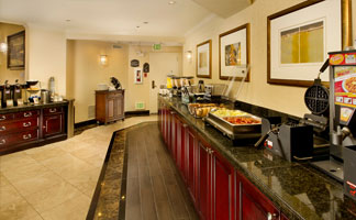 Our guests enjoy a free deluxe, hot breakfast